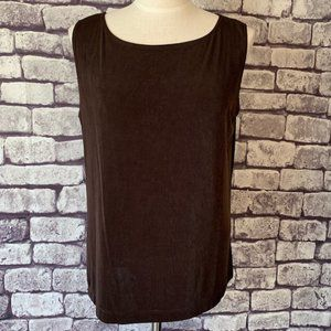 Chico's Travelers Brown Tank Size XL